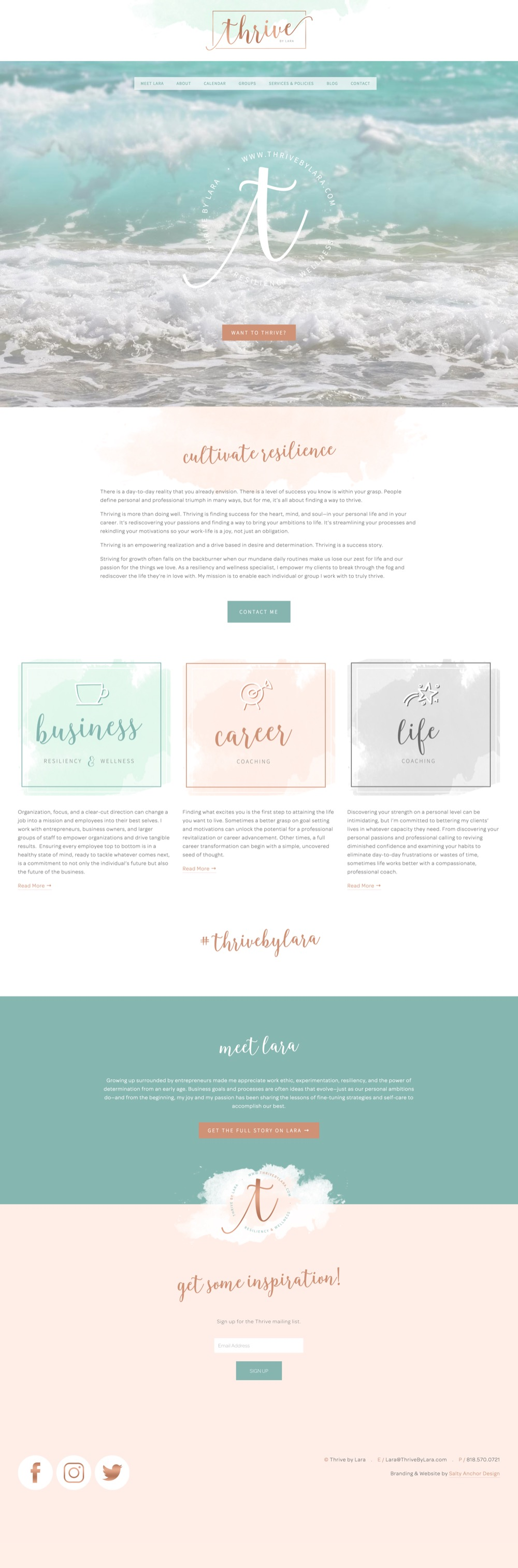 Squarespace Website Design Brand Design For Web