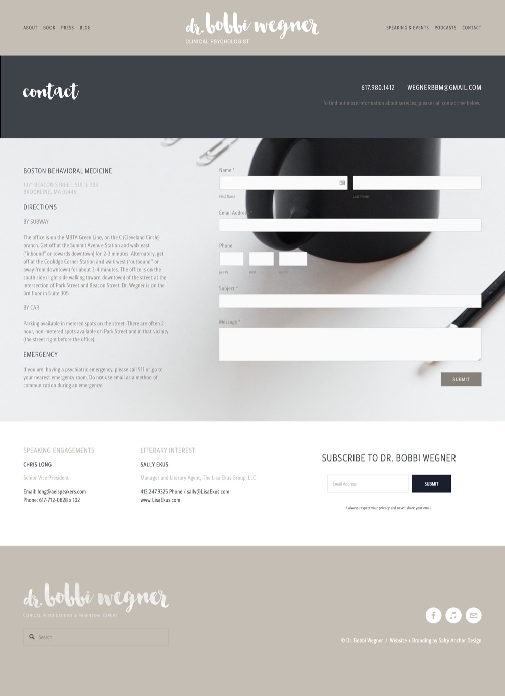 Squarespace Website Custom Design Custom Form Contact Page