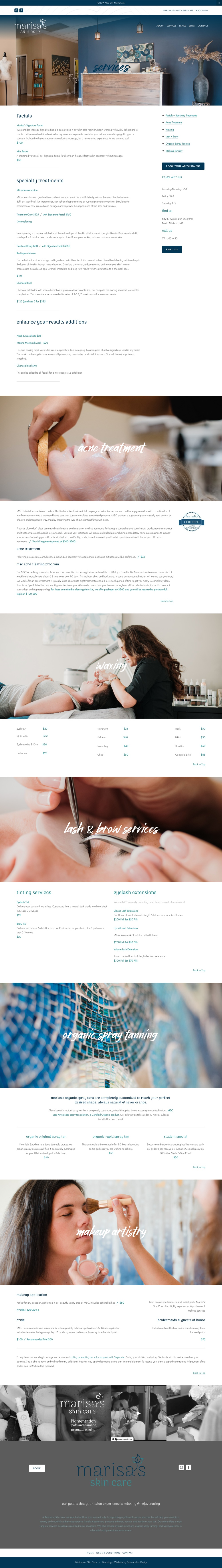 Squarespace Website Custom Design Services Menu