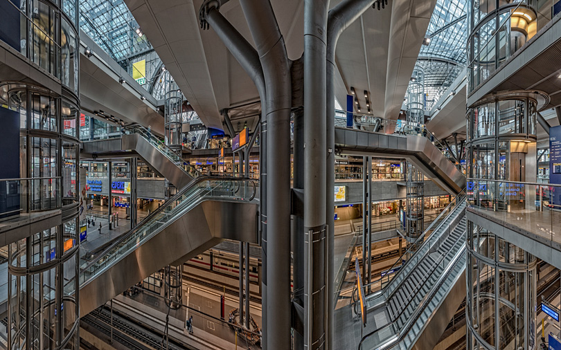 Berlin Train Station, Rick Hulbert