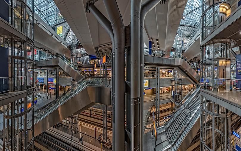 Berlin Train Station, Rick Hulbert