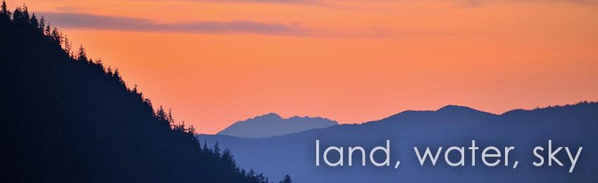 Land, Water, Sky