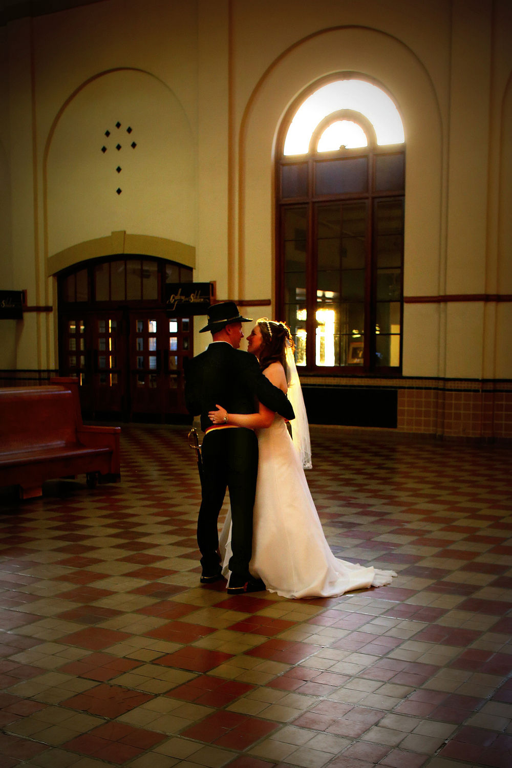 Wedding shoot at Union Station Ogden Utah