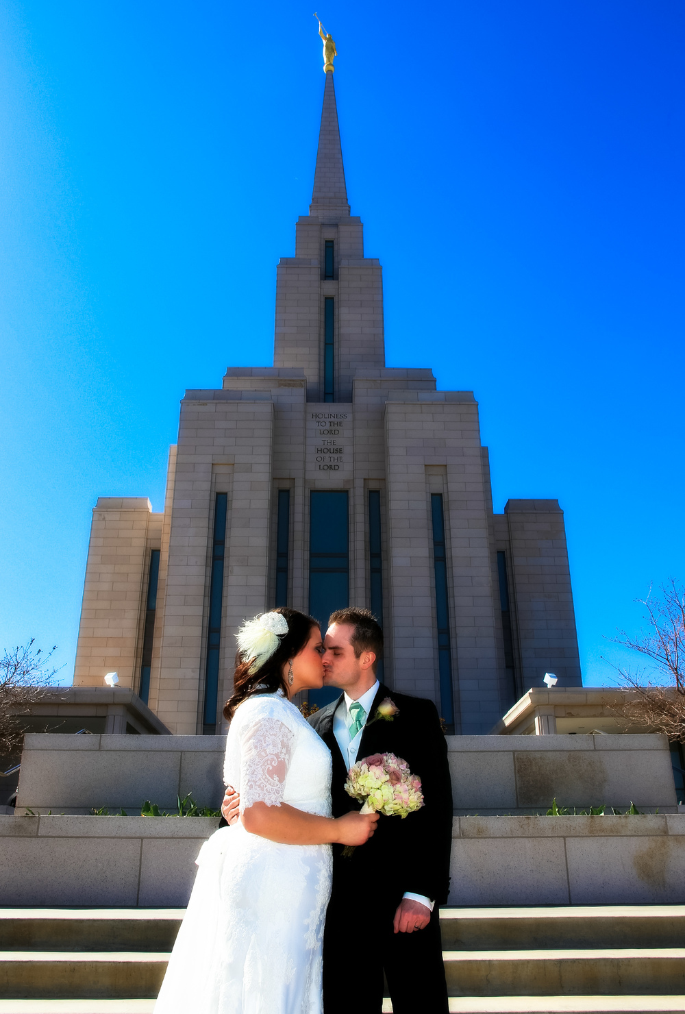Oquirrh Mountain LDS Utah Temple Wedding Photography