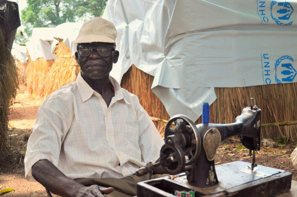 Abel, a tailor, fled his home when his neighborhood in Bambari was attacked last year.