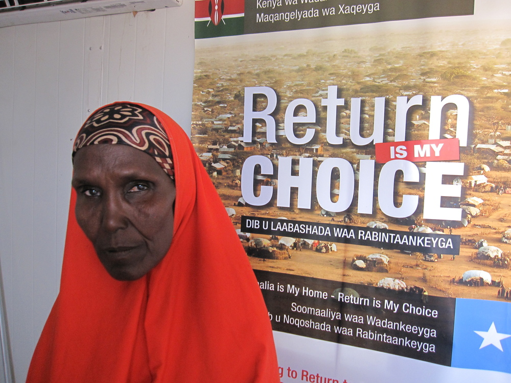 A Somali refugee in Dadaab camp, Kenya.