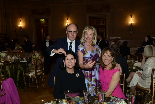 Ambassador Jorge Hevia, Permanent Observer to the Organization of American States; Casilda Garcia-Quiros (seated); Mariella Trager; and Barbara Harrison of NBC 4