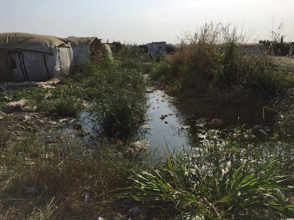 During last year's rainy season, the camp was devastated by flooding. Displaced people and aid workers spent weeks living in more than two feet of water. This could be repeated once the rains return this spring.