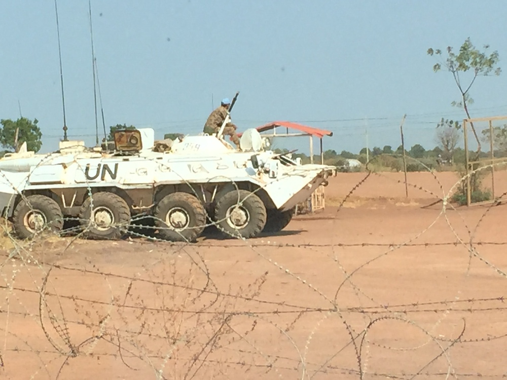 UN forces are charged with protecting the camp's residents. However shelling continues nearby, and observers fear that fighting is becoming more severe.