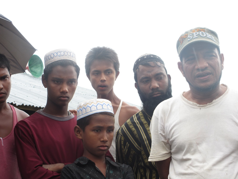 The government refuses to register any Rohingya who arrived at the Sittwe camps after the violence of June 2012. This group of men was driven from their homes in October 2012. They are not registered and, as a result, receive no food rations.