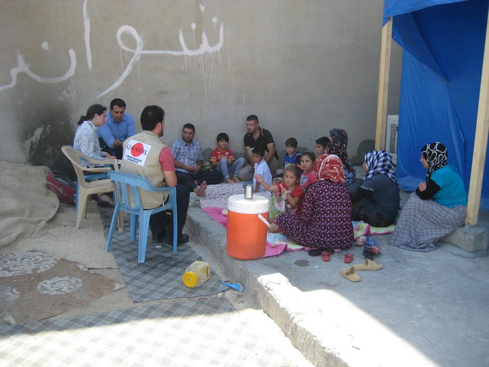 Syrian refugee family, interview.JPG