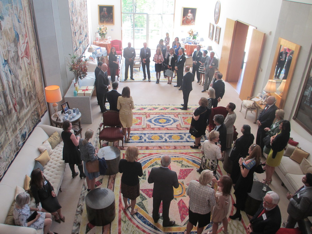 Luncheon attendees at the Spanish Ambassador's residence