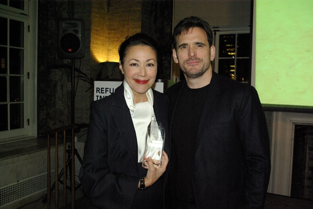 Ann Curry and Matt Dillon