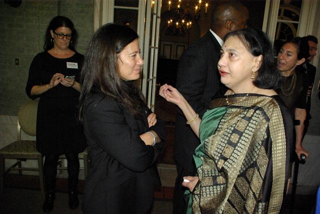 Sabine Chalmers and RI Board Member Nina Saglimbeni