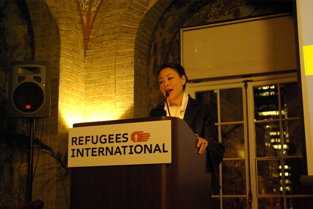 Ann Curry addresses the audience
