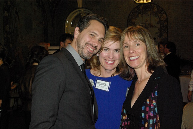 Thomas Sadoski, RI Vice President for Philanthropy Kendra Davis, and RI Board Member Tat Maxwell