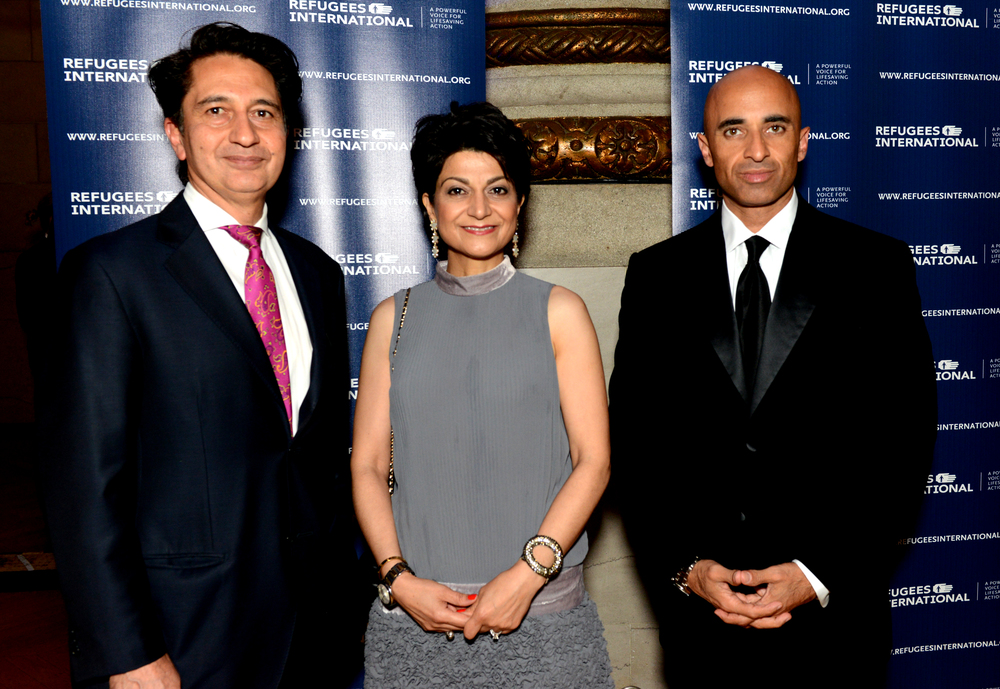 Amb. Said Jawad, Shamim Jawad, and H.E. Amb. and RI Anniversary Dinner Honorary Chair Yousef Al Otaiba