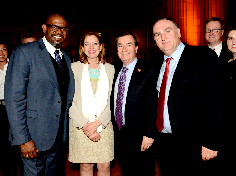 Forest Whitaker, Marie Royce, Rep. Ed Royce, and Jose Andres