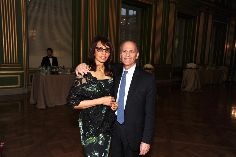RI Anniversary Dinner Benefit Chairs Rohini Talalla and Amb. Jeffrey Bader
