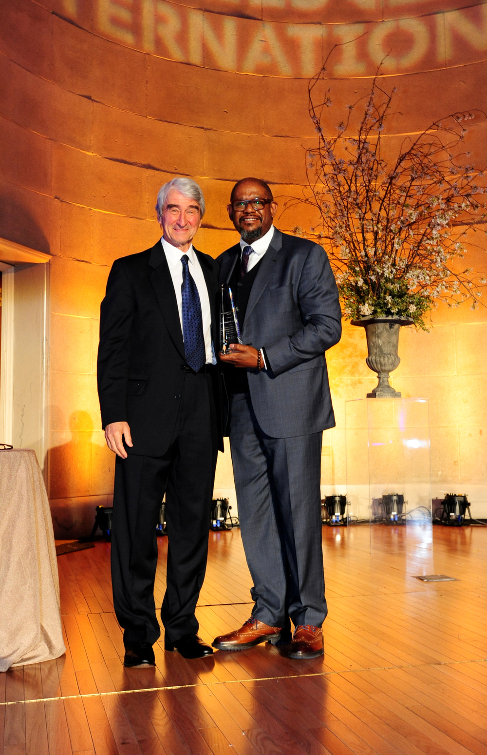 Forest Whitaker receives McCall-Pierpaoli Award from RI Board Member Sam Waterston