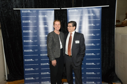 State Department Deputy Assistant Secretary Kelly Clements and RI President Michel Gabaudan