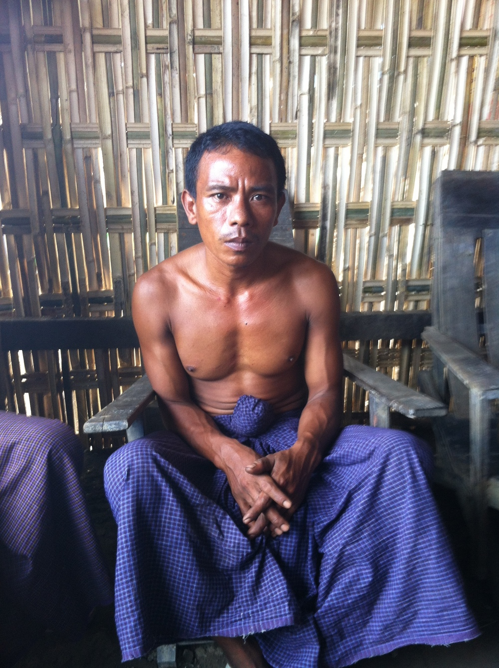 U Maung lost his home and store in the recent Myanmar floods.