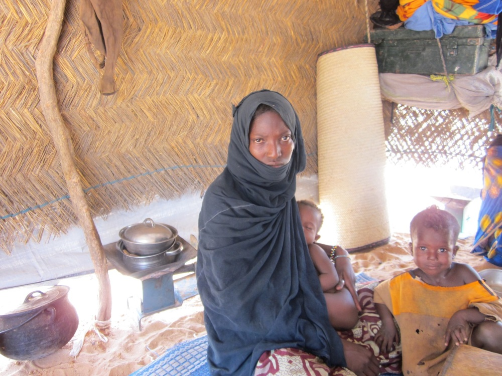 A family survives harsh conditions during a drought in the Sahel.