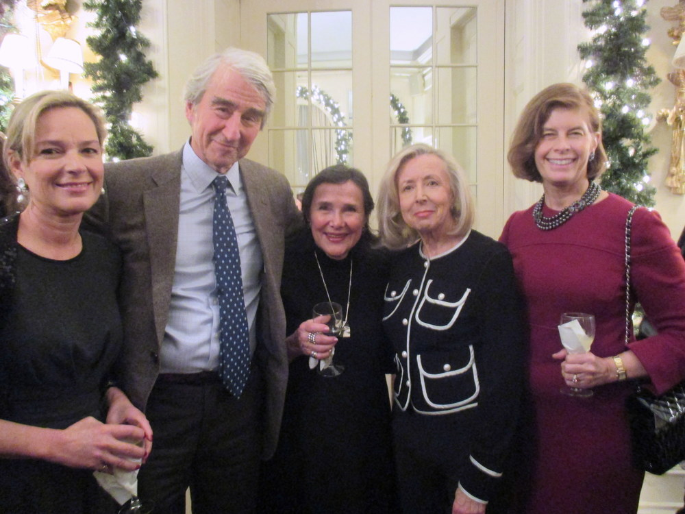 Washington Circle Chair Mariella Trager, RI Board Member Sam Waterston, Ina Trager, Hadassah Lieberman, and Robin Jeffrey