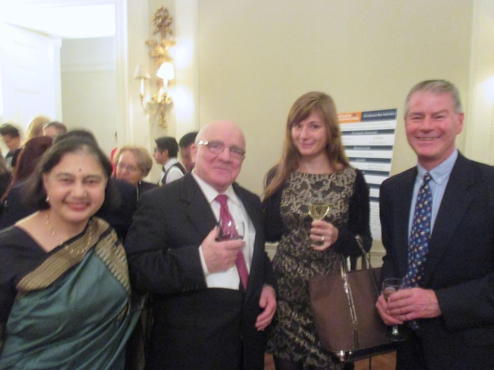 RI Board Member Nina Saglimbeni, Dino Saglimbeni, Alexandra Glassl, and Richard Chalmers