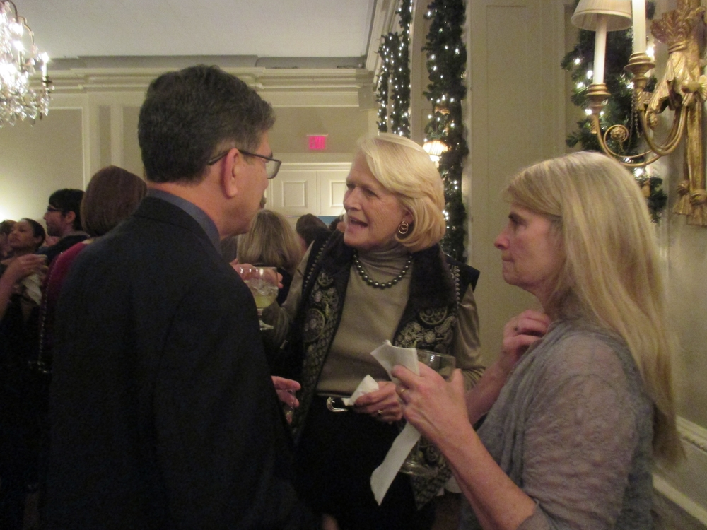 RI President MIchel Gabaudan with RI Board Members Sandi Tully and Jan Weil.