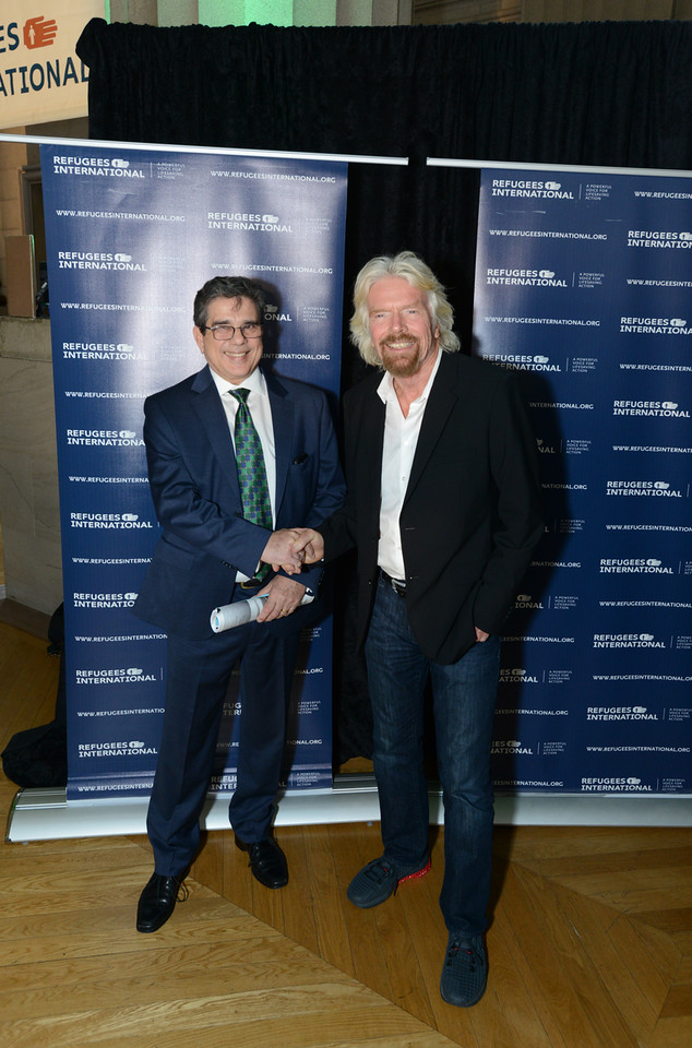 RI President Michel Gabaudan and Sir Richard Branson.