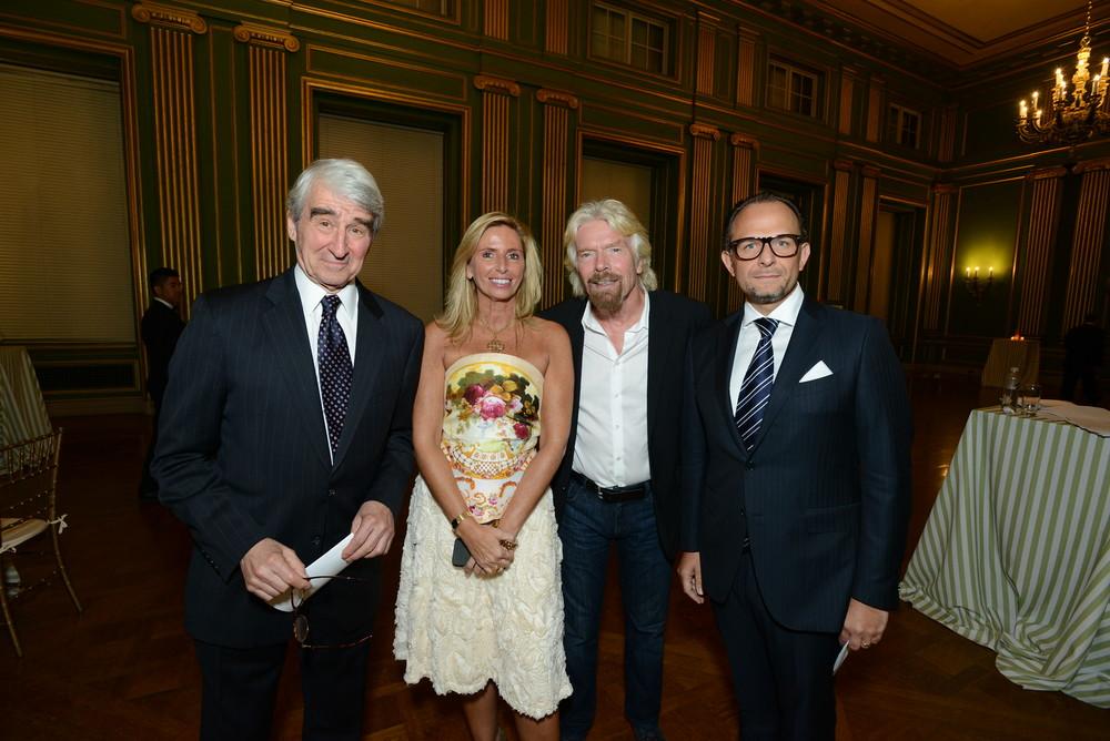 RI Board Emeritus Sam Waterston, Benefit Chair Maria Trabocchi, Sir Richard Branson, Benefit Chair Fabio Trabocchi.