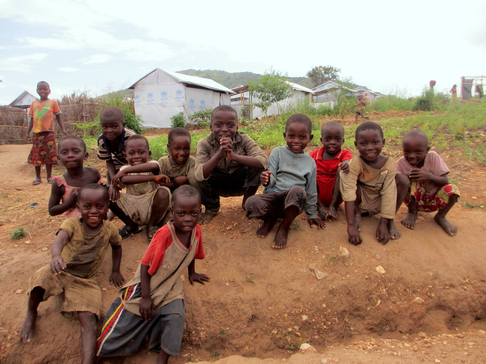 Thousands of refugee children live at the Lusenda site in Fizi territory, South Kivu.
