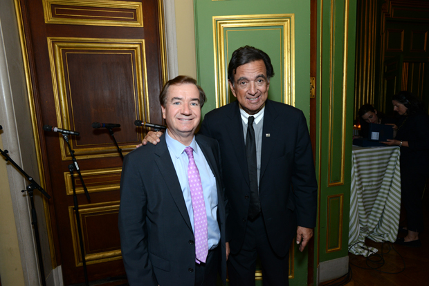 Chairman of the House Foreign Affairs Committee Rep. Ed Royce (R-Calif.), left, and former New Mexico Gov. Bill Richardson attend Refugees International's 37th annual Anniversary Dinner.