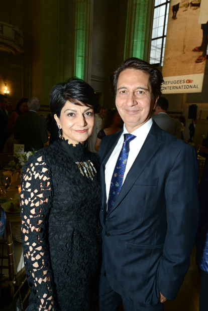 Shamim Jawad and former Afghan Ambassador Said Tayeb Jawad attend Refugees International's 37th annual Anniversary Dinner.
