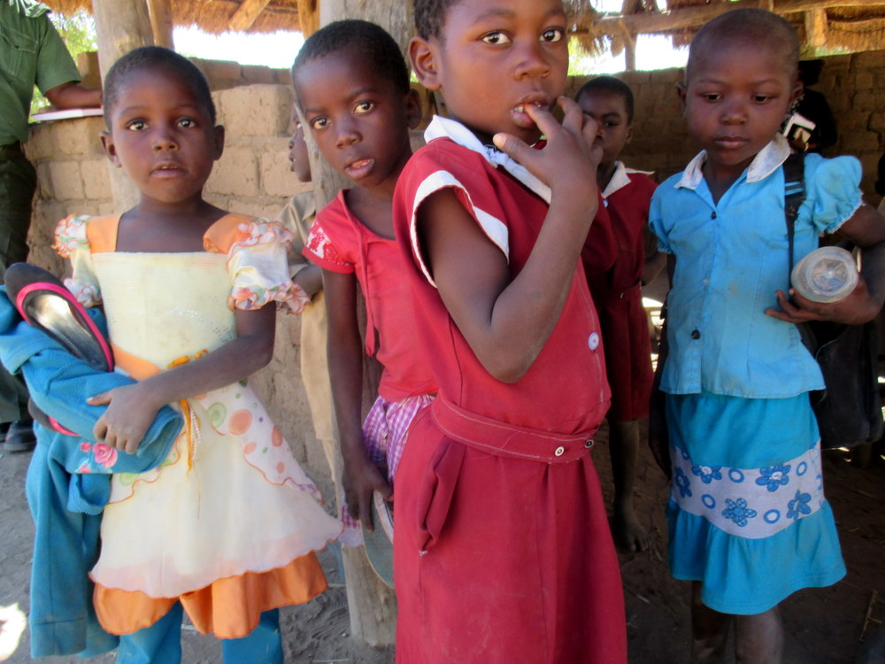 School children in Binga District, Matabelaland North, Zimbabwe.