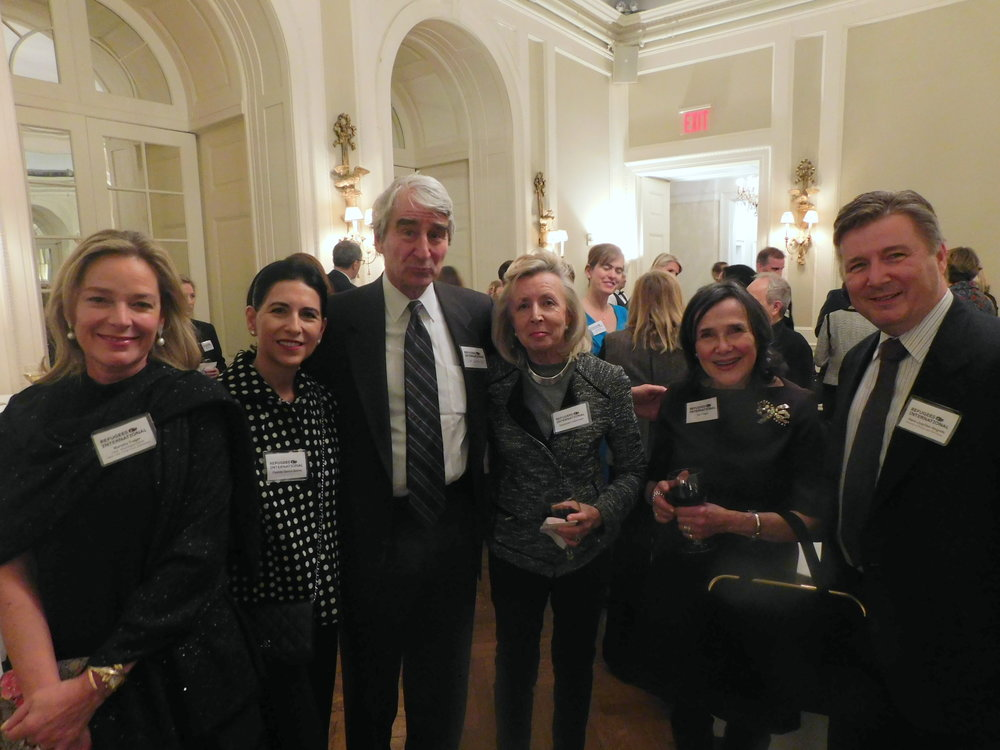 Mariella Trager, Casilda Garcia Quiros, RI Board Emeritus Sam Waterston, Hadassah Lieberman, Ina Trager, RI Director of Policy and Advocacy Hans Hogrefe.