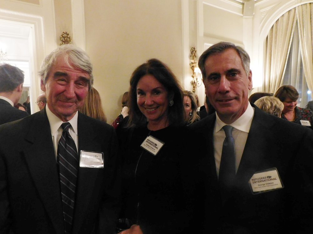 RI Director Emeritus Sam Waterston, Frederica Valanos, and George Valanos