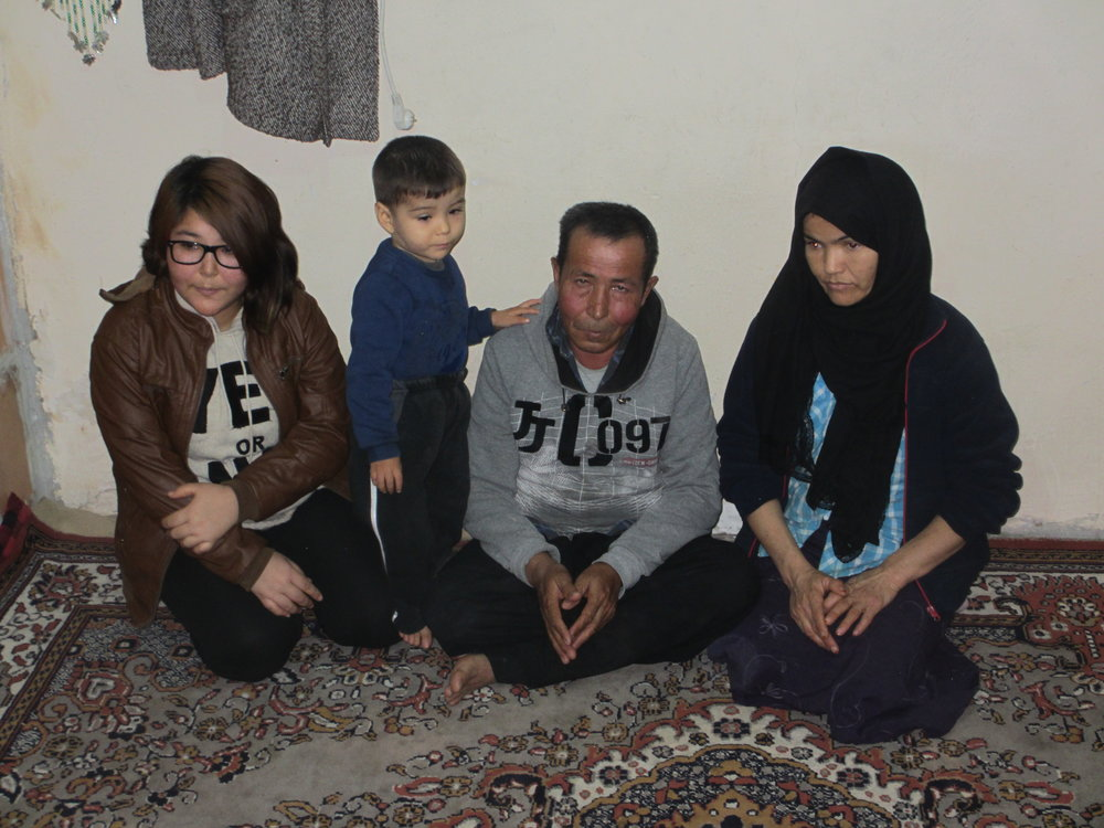 In December 2016 Refugees International (RI) carried out a mission to Turkey, visiting refugees and asylum-seekers in several cities including Istanbul, Denizli, Konya, Aksaray, and Kayseri. Pictured here is a family of Afghan refugees living in Denizli.