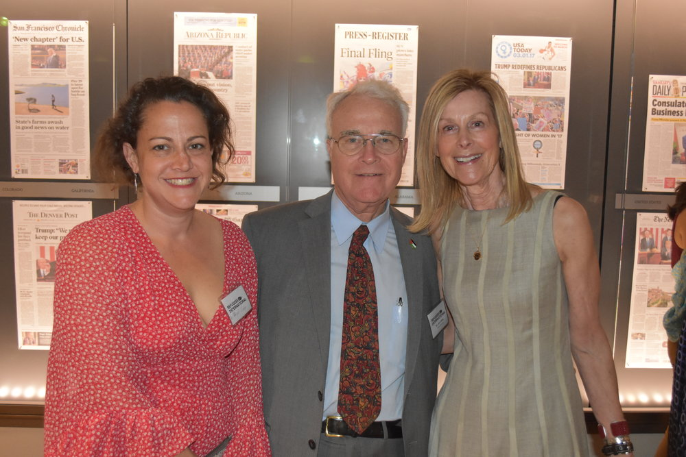 Dr. Abigail Cobey, RI Board Emeritus Dr. James Cobey, and RI Board Chair Eileen Shields-West