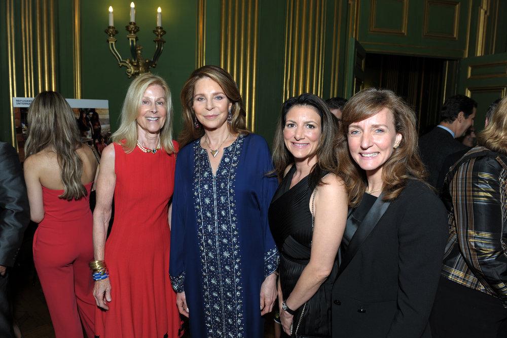 RI Board Chair Eileen Shields-West, RI Board Members Queen Noor Al-Hussein and Jodi Bond, and Laura Lane.