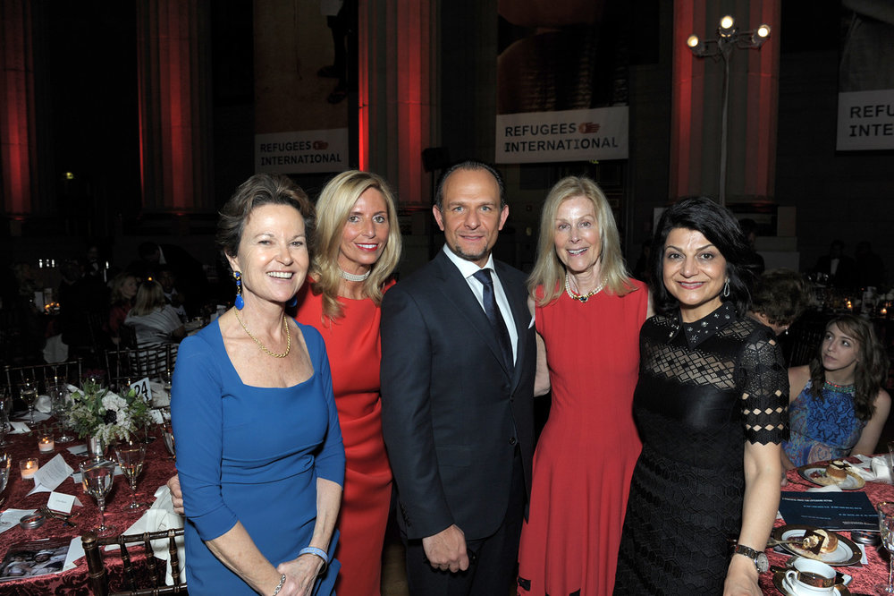 Kati Marton, Benefit Chairs Maria and Fabio Trabocchi, RI Board Chair Eileen Shields-West, and Shamim Jawad.