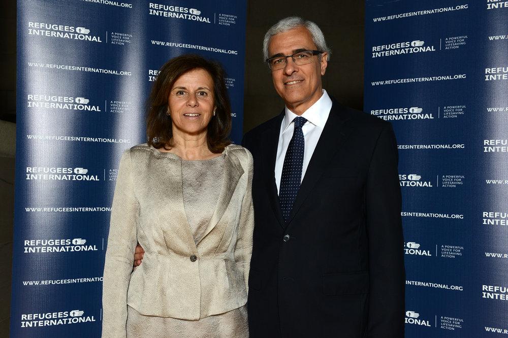 Isabel Vital and Ambassador of Portugal Domingos Vital.