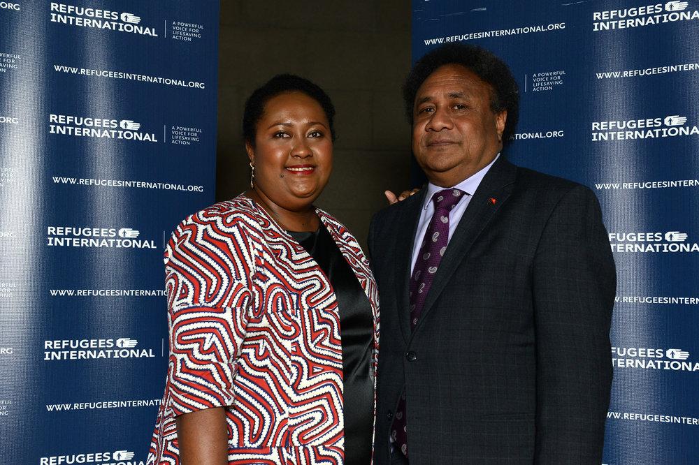 Numa Mulina and Ambassador of Papua New Guinea Rupa Mulina.