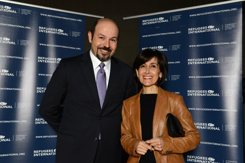 Samer Asfour and Ambassador of Jordan Dina Kawar.