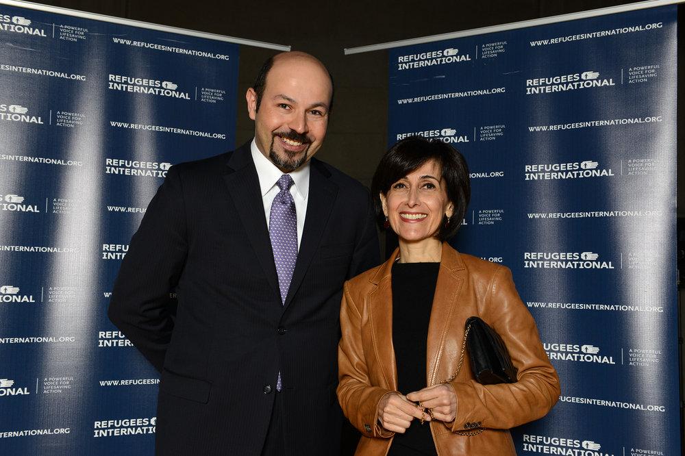 Samer Asfour and Ambassador of Jordan Dina Kawar.