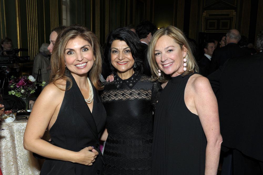 Princess Yasmine Pahlavi,Shamim Jawad, and Mariella Trager.