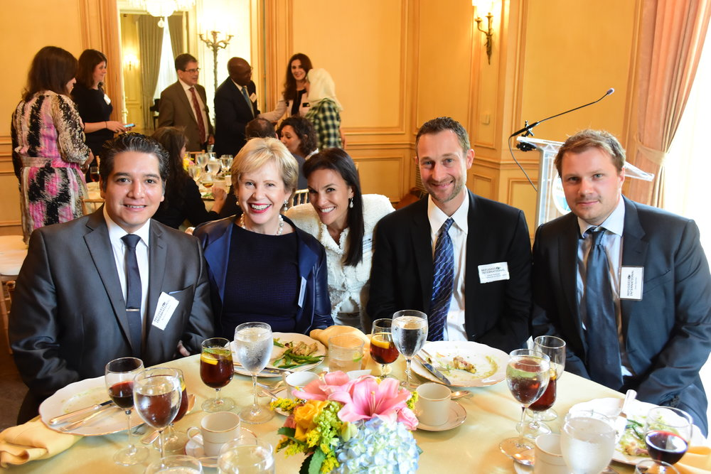 Rod Carrasco, Lisa Barry, Global Partnership Initiative Chair Sarah Bovim, Dan Sullivan, and Joss Garman.