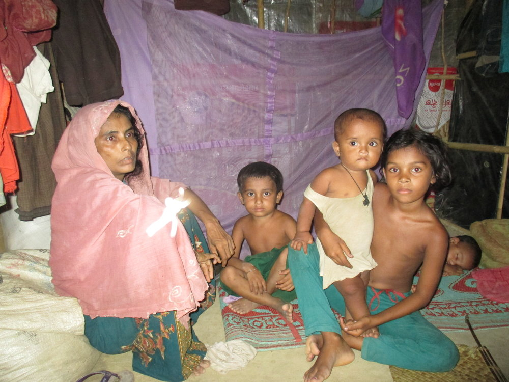 "Fifty-seven percent of the ""new arrivals"", those Rohingya who arrived since October 2016, are children, according to UNICEF. This woman told RI her husband disappeared just before they left Myanmar and they still don't know where he is."