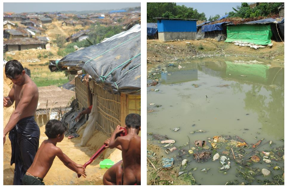 The Bangladesh Government and international community have been providing emergency food rations and trying to help improve conditions in the new settlements but resources are strained. Water and sanitation needs provide a particularly urgent challenge as crowded and flooded camps threaten further outbreaks of cholera and diarrhea.